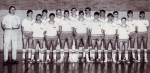 1966-67 9th Grade Basketball Team, Cliff Bombach (Bomber, now 91), Coach